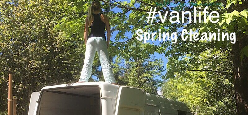 Vanlife cleaning supplies