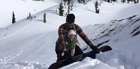 vanlife log how to snowboard with baby on board salt sugar sea